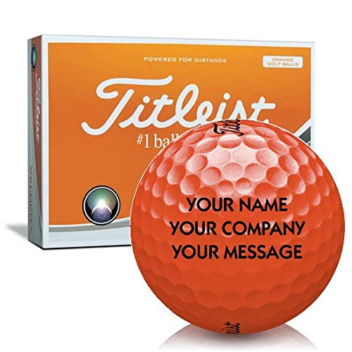 Titleist Velocity Orange Personalized Golf Balls (Best Orange Golf Balls)