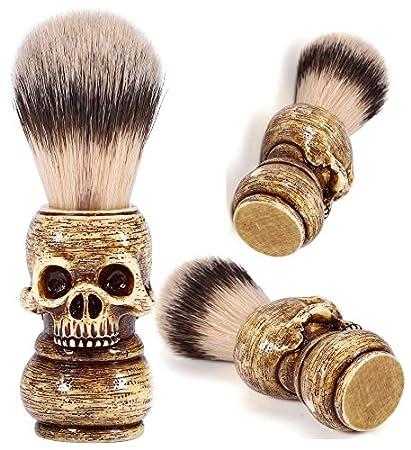 amazon com skull head shape handle beard shaving brush designed