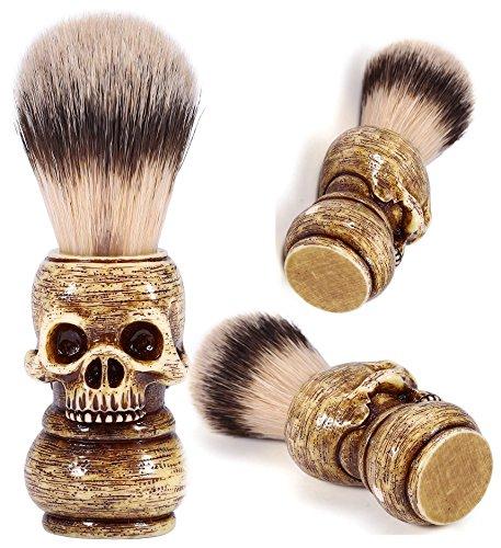 Skull Head Shape Handle Beard Shaving Brush Designed for your Best Wet Shave, Hand Crafted with Resin Men's Grooming Hair Shaving Brush Tool