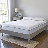 Wood Platform Bed Frame   Solid Hardwood - 100% Handmade by Amish Craftsmen   No Box Spring Required Mattress Foundation   Mid Century Modern Bedroom Decor   King