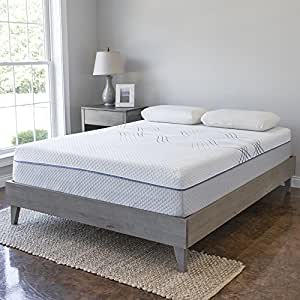 eLuxurySupply Wood Platform Bed Frame | Solid Hardwood - 100% Handmade by Amish Craftsmen | No Box Spring Required Mattress Foundation | Mid Century Modern Bedroom Decor | Full