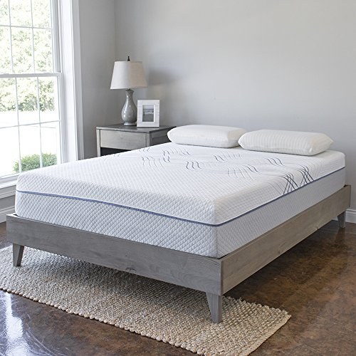 Wood Platform Bed Frame | Solid Hardwood - 100% Handmade by Amish Craftsmen | No Box Spring Required Mattress Foundation | Mid Century Modern Bedroom Decor | King