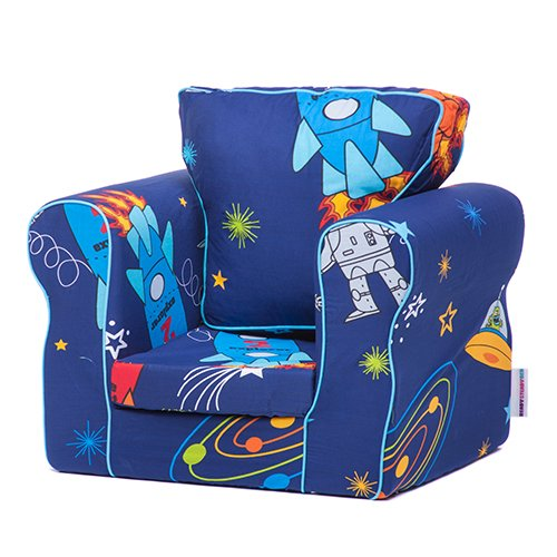 Ready Steady Bed® Space Boy Design Upholstered Children's Armchair with Removable Cover