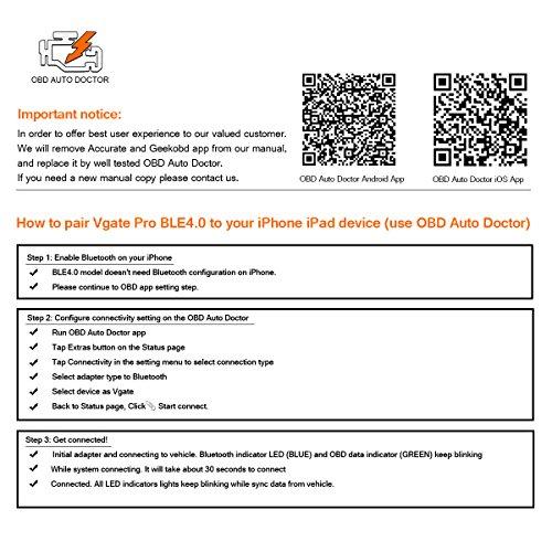 Vgate iCar Pro Bluetooth 4 0 (BLE) OBD2 Fault Code Reader