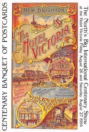 The Hotel Victoria Advertising Poster Postcard ()