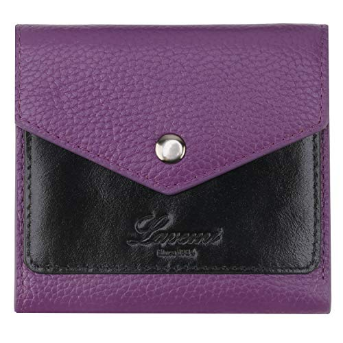 Lavemi RFID Blocking Small Compact Mini Bifold Credit Card Holder Leather Pocket Wallets for Women with Quick access ID Slot(1-Envelope Purple)