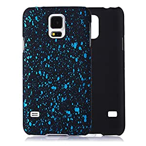 tinxi® Funda de Plastico Caso duro de goma para Samsung Galaxy S5 Caso de la cubierta de la contraportada de fondo negro y puntos azules cielos