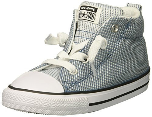 t Woven Canvas Mid Top Sneaker, Aegean Storm/Dolphin/White, 1 M US Little Kid ()