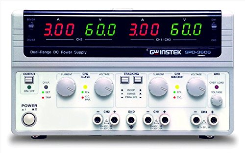 Instek SPD-3606 Triple-Output Dual-Range Switching DC Power Supply by GW Instek