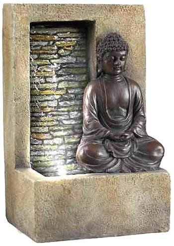 Buddha Tabletop Water Fountain with Waterfall