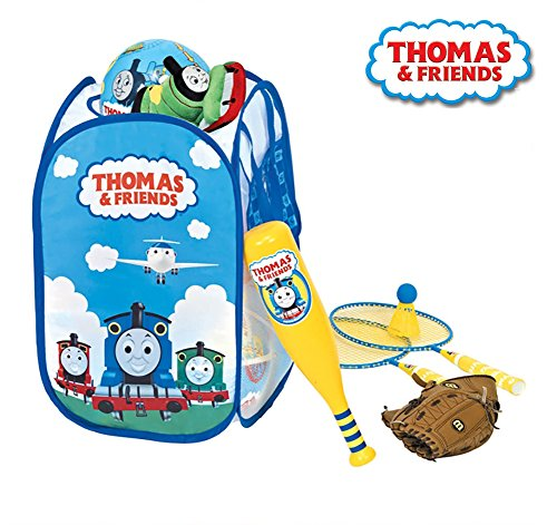 Thomas & Friends The Train Toy Box Children's Tidy Folding Portable Storage Basket Laundry Bin Pop up Hamper (Train Box Toy)