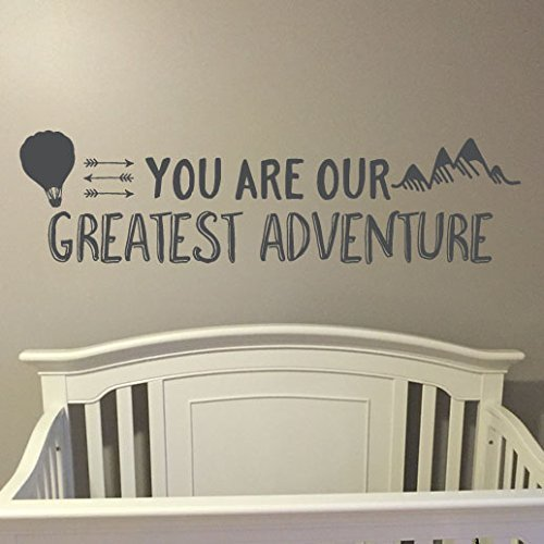 You are our greatest adventure Vinyl Wall Decal by Wild Eyes Signs. Nursery Quote Removable sticker Arrows Modern Nursery decor Modern Explorer nursery - The Explorer Modern