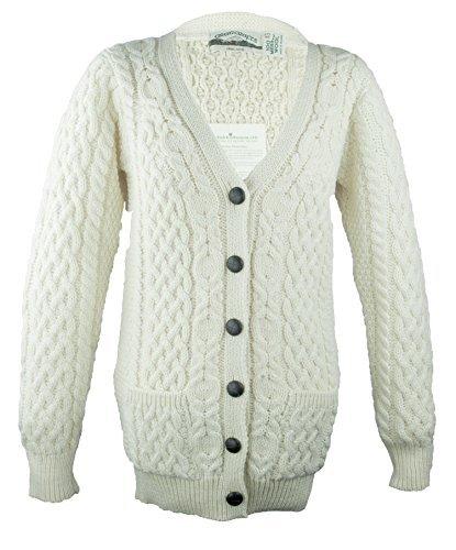 Aran Knit Sweaters - 100% Irish Merino Wool Aran Knit Boyfriend Sweater by West End Knitwear