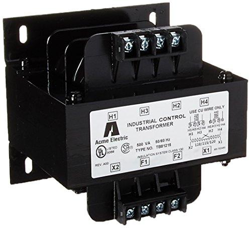 Hubbell Acme Electric TB81215 Open Core and Coil Industrial Control Transformer, 240V x 480V, 230V x 460V, 220V x 440V Primary Volts, 120V/115V/110V Secondary Volts, 0.5 (480v Coil)