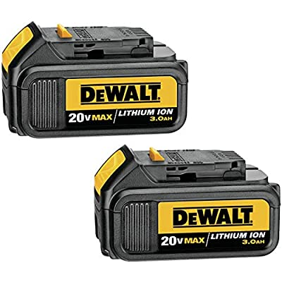 DeWalt 20 Volt MAX Lithium Ion Battery 2-Pack,