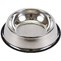 XUANLAN Hundeschüssel aus Edelstahl, Gummibasis für kleine und mittlere Hunde, Futterschüssel für Haustiere und Wasserschüssel für Haustiere