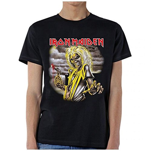 ill Rock Merch Iron Maiden Killers Single Sided T-Shirt Black