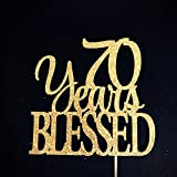 70 Years Blessed Cake Topper, 70 Cake Topper, 70th Anniversary Cake Topper, Seventy Cake Topper, 70th Birthday Cake Topper, 70 Centerpiece