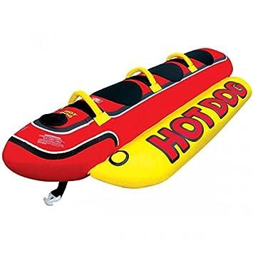 Airhead Hot Dog 3 remolcable – Tobogán de agua Banana para 3 personas | Ride las