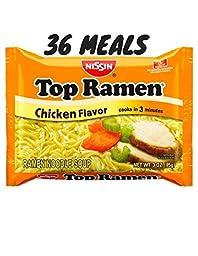 Nissan Top Ramen Chicken Noodle Soup 36 meals