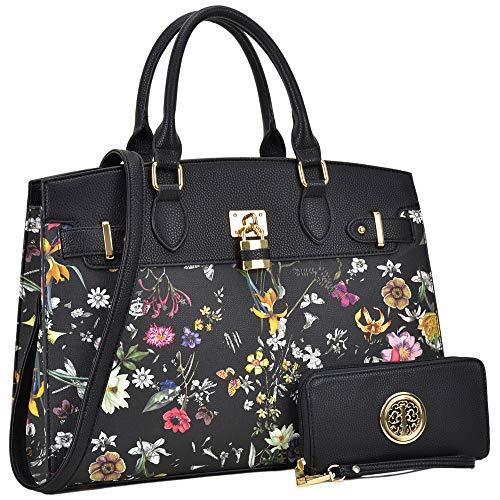 - Women Purses and Handbags Stylish Ladies Crossbody Designer Satchel Medium Shoulder Bag Cute Tote(MKP-FN-03-6876-W-BLF)