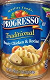 Progresso Traditional Hearty Chicken & Rotini Soup 19oz Can (Pack of 8)