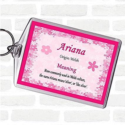 Ariana - Llavero con el nombre de la bandera de Reino Unido ...