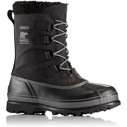 Sorel Men's Caribou Reflective WL Boots, Black, 9 M US