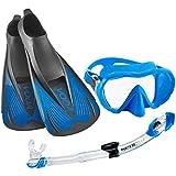 Phantom Aquatics Voda Full Foot Fin Mask Snorkel Set (Made in Italy)