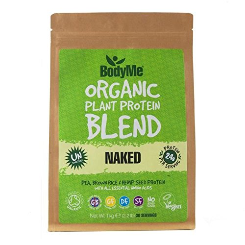 BodyMe Organic Vegan Protein Powder Blend, Naked/Natural - 1kg (2.2lbs) by BodyMe Organic