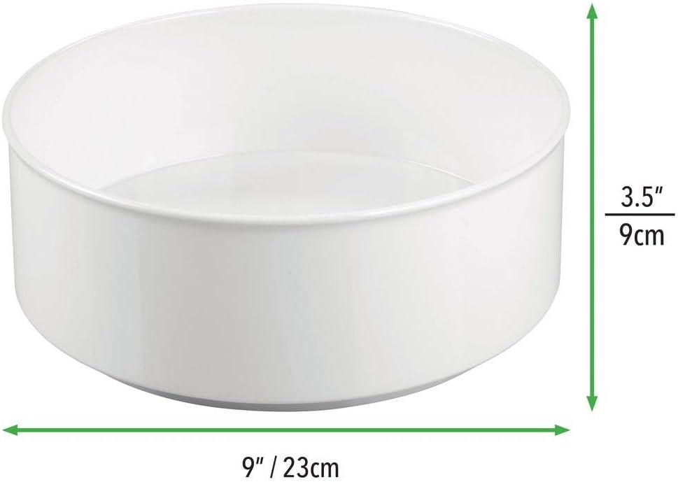anthrazitgrau drehbarer Gew/ürzhalter aus Kunststoff praktisches Gew/ürzregal f/ür K/üchenschrank mDesign Lazy Susan mit 22,9 cm Durchmesser f/ür das K/üchenregal