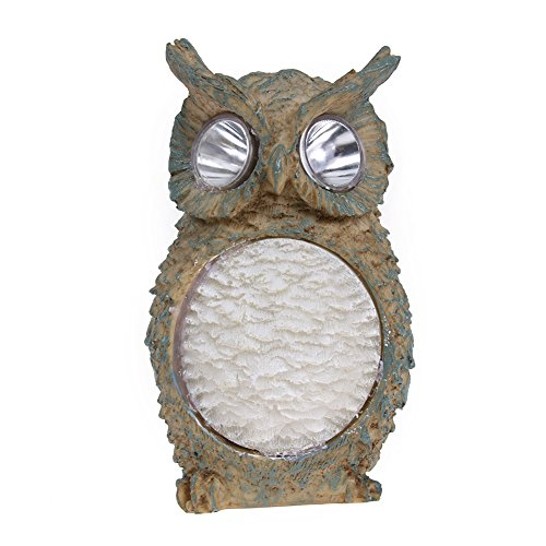 MKChung 1pc Owl Designed Solar Powered Garden Yard Light Outdoor Lawn Resin Lamp by MKChung