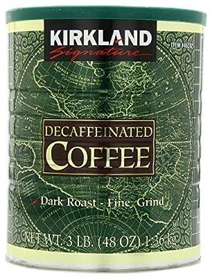 Kirkland Signature 100% Colombian Dark Roast Decaffeinated Ground Coffee, 3 Pound (Pack of 2) by Custom Pack