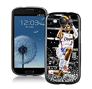 Popular And Unique Custom Designed Cover Case For Samsung Galaxy S3 I9300 With LA Clippers Chris Paul 3 Black Phone Case
