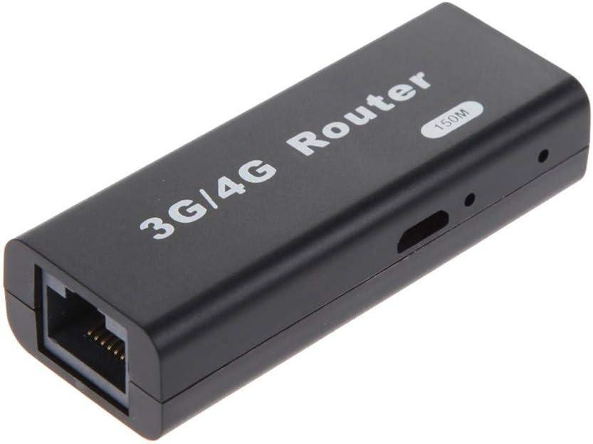 Hpybest Mini Router 3G/4G WiFi, 150 Mbps WLAN Hotspot Ap Cliente RJ45 Router inalámbrico USB
