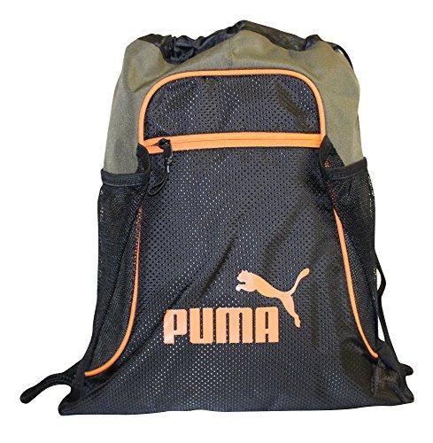 Olive Drawstring (PUMA EVERCAT EQUINOX Carrysack Drawstring Gym Bag -OLIVE, One Size)