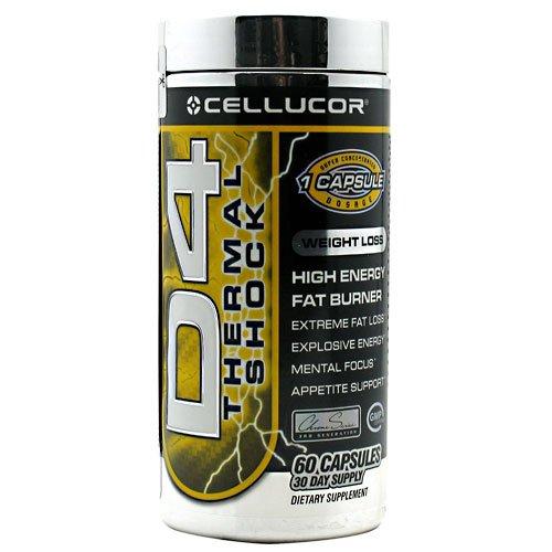 Cellucor D4 choc thermique - brûleur de graisse de haute énergie - énergie - Focus - appétit Support - 60 Capsules