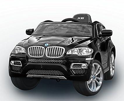 Coche eléctrico BMW X6 con control remoto 2,4 GHZ, pintado metalizado, 12