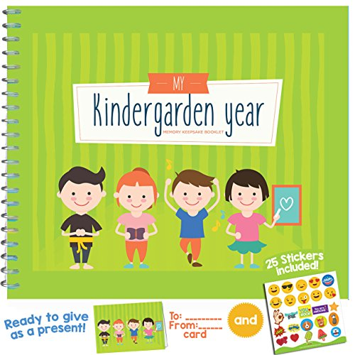 Day Kindergarten Plans - MY KINDERGARDEN YEAR, 24 PAGES- Beautiful Baby 6X8 Memory Keepsake Journal for Preschool, Childcare, Kindergarten and Day Care!