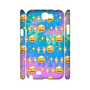 Chinese Emoji Party Customized 3D Phone Case for Samsung Galaxy Note 2 N7100,diy Chinese Emoji Party Cover Case