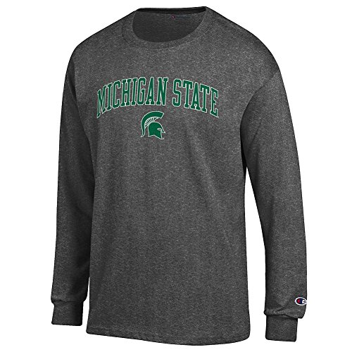 (Elite Fan Shop Michigan State Spartans Long Sleeve Tshirt Varsity Charcoal -)