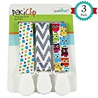 Pacifier Clips for Baby | Set of 3 | Universal Design Fits All Pacifier Style...
