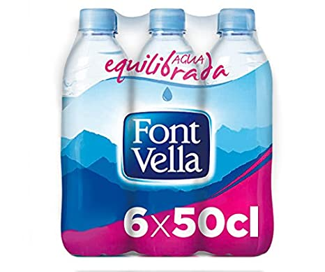 Font Vella Agua Mineral Natural - Pack 6 x 0,5 l: Amazon.es: Amazon Pantry