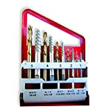 Neiko 01925A Screw Extractor and Left Hand Drill Bit Set, 10 Piece | Alloy Extractors | Cobalt HSS Drill Bits |