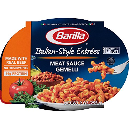 Barilla Italian-Style Entrees, Meat Sauce Gemelli, 9 Ounce (Pack of 6) (Dinner Fish)