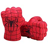 Spiderman Gloves Spider Man Hands for 2 Year Old Kids or Above, Spider Man Movie 2 Fists Plush Stuffed Toy to Match Spiderman Costumes, Masks, Hats (1 Pair)