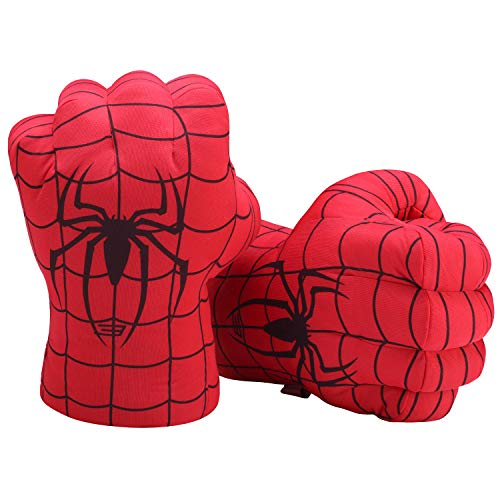 Toyart Superhero Gloves Hands for Kids, Plush Stuffed Fists Accessories to Costumes, Masks, Hats (1 Pair) ()