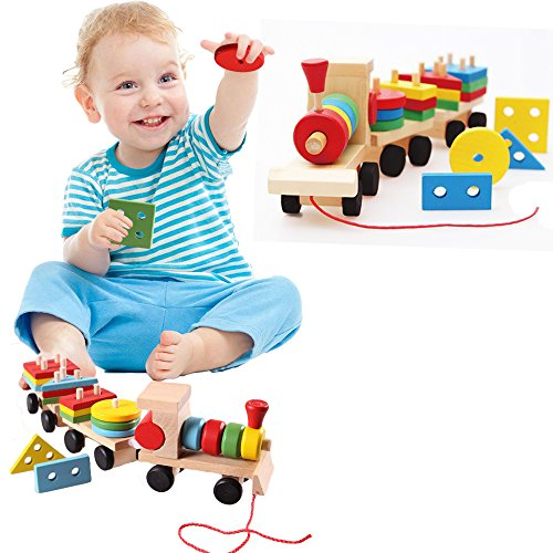 Toy Cubby High Quality Wooden Colorful G - Wooden Block Train Shopping Results