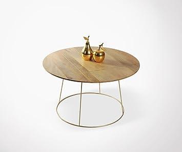 Table Basse Design Bois Et Pieds Métal Castine Amazonfr Cuisine