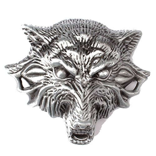 Sam Store (TM) Belt Buckle in Wolf Head Western Cowboy Native American Motorcyclist (BBFA-WF1)